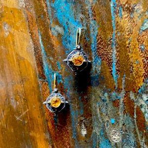 Konstantino Yellow Topaz Earrings
